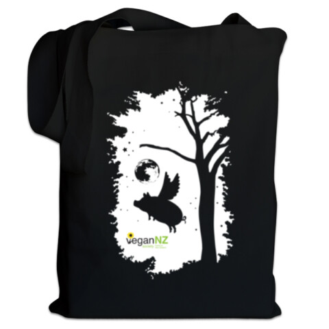 Tote Bag (Black) - Vegan Society of Aotearoa